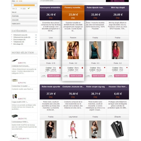 Featured products on the home page PRO