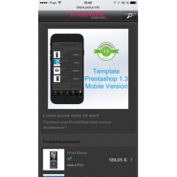 Black Google Mobile friendly Prestashop Template
