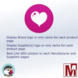 Display the logo of the manufacturer and / or supplier for PrestaShop