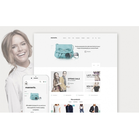 Mannerlo Responsive PrestaShop template for clothing ecommerce