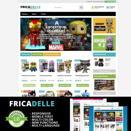 Fricadelle - Responsive PrestaShop Template