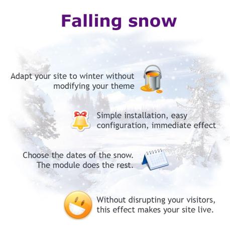 PrestaShop module Falling snow