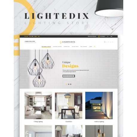 Lightedix - Lighting Store PrestaShop Theme