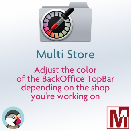 PrestaShop module to customize the color of the Backoffice TopBar in multi-shop mode