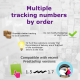 Combine several command tracking numbers for PrestaShop