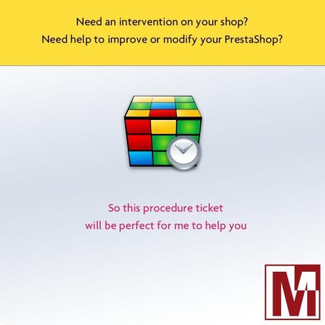 Intervention ticket on PrestaShop