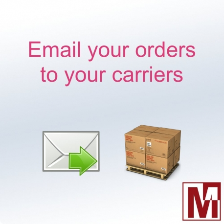 Send orders by email to carriers