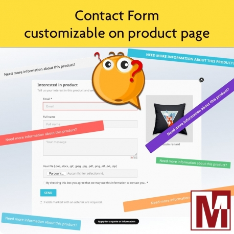 Dynamic contact form on product page
