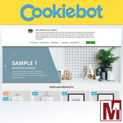 GDPR Cookiebot - Monitoring and control of cookies