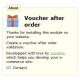 Voucher after order