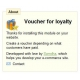 Voucher for loyalty